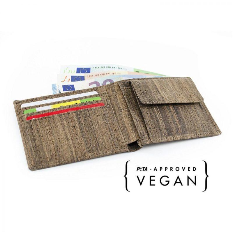 Nachhaltiges Portmonee | Portmonee aus Kork | veganes Portmonee