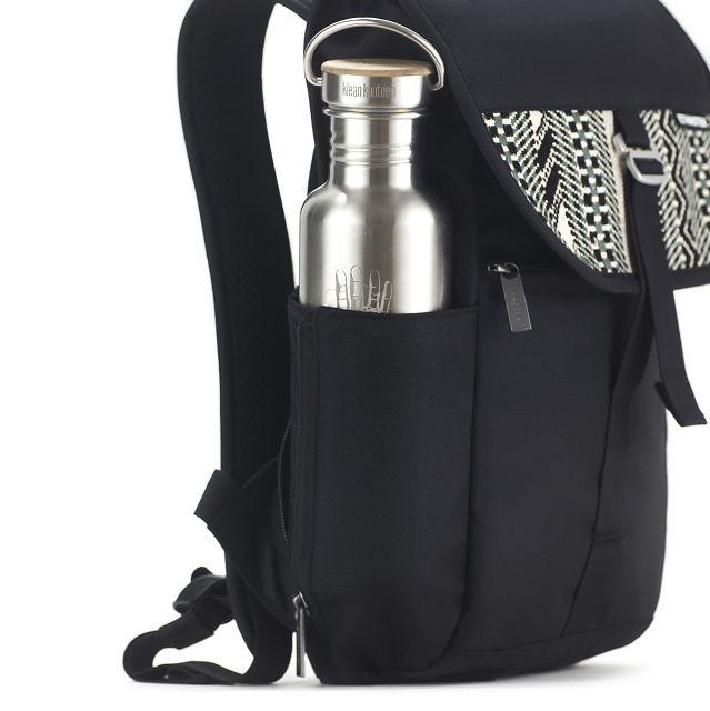 Nachhaltiger Rucksack Trinkflaschenhalter