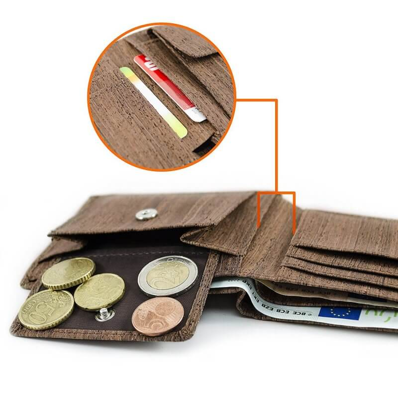 Acherla Bifold-Portemonnaie, Farbe braun, Optik Muenzen