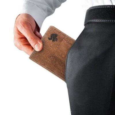 Acherla Bifold Portemonnaie, Farbe braun verziert, Optik aus Tasche