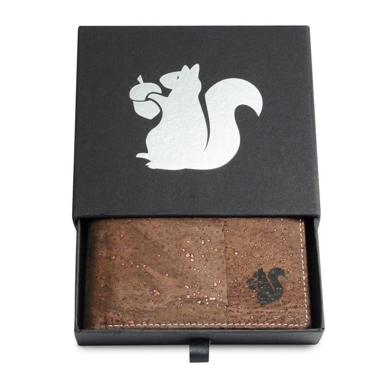 Acherla Bifold Portemonnaie, Farbe braun verziert, Optik in Box