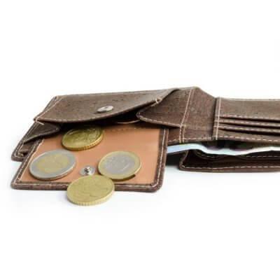 Acherla Bifold Portemonnaie, Farbe braun verziert, Optik von oben