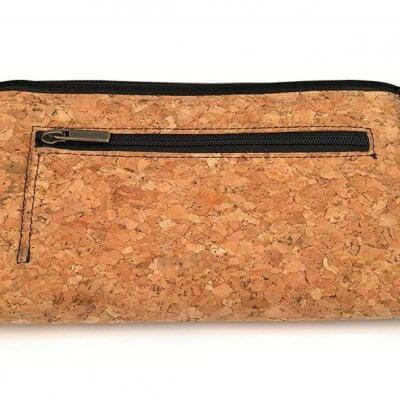 Acherla Damenbrieftasche naturbraun-Optik hinten