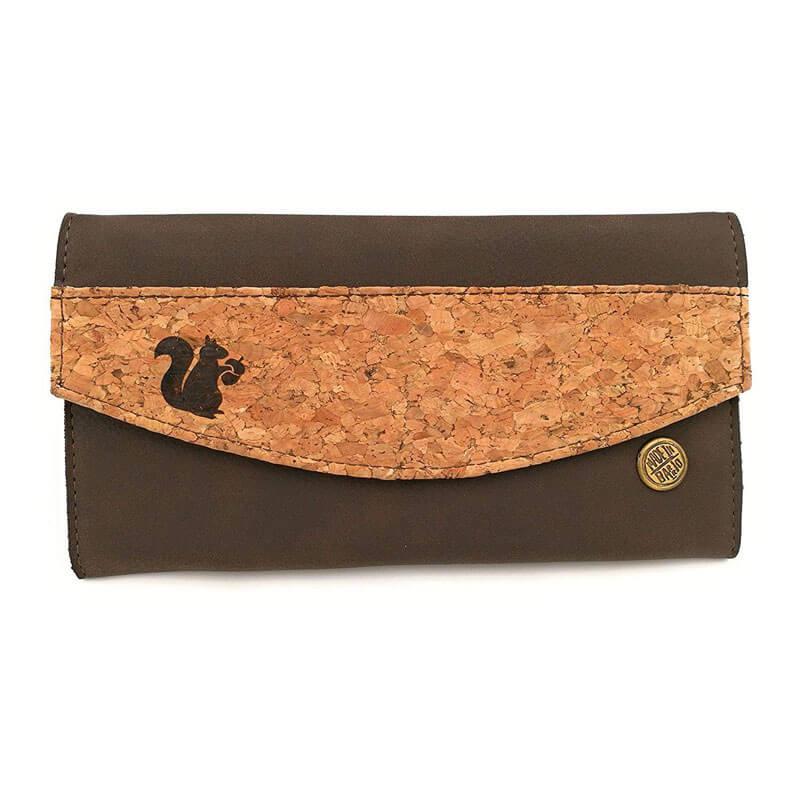 Acherla Damenbrieftasche aus Kork braun/natur
