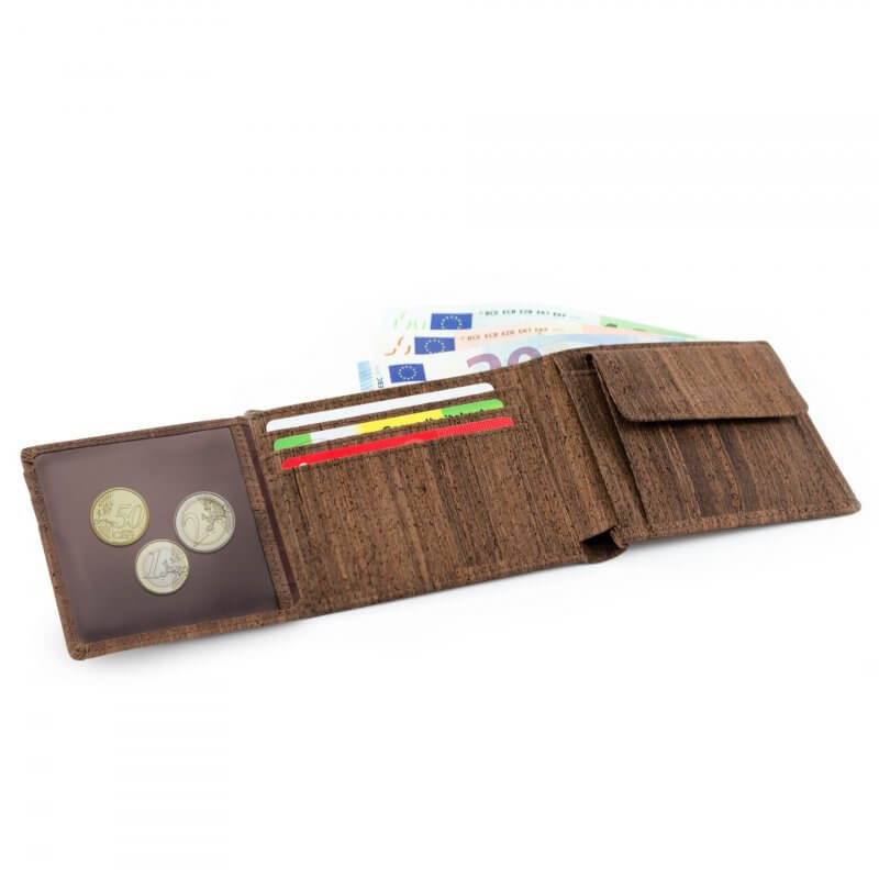 Acherla Trifold-Portemonnaie, Farbe braun, Optik offen