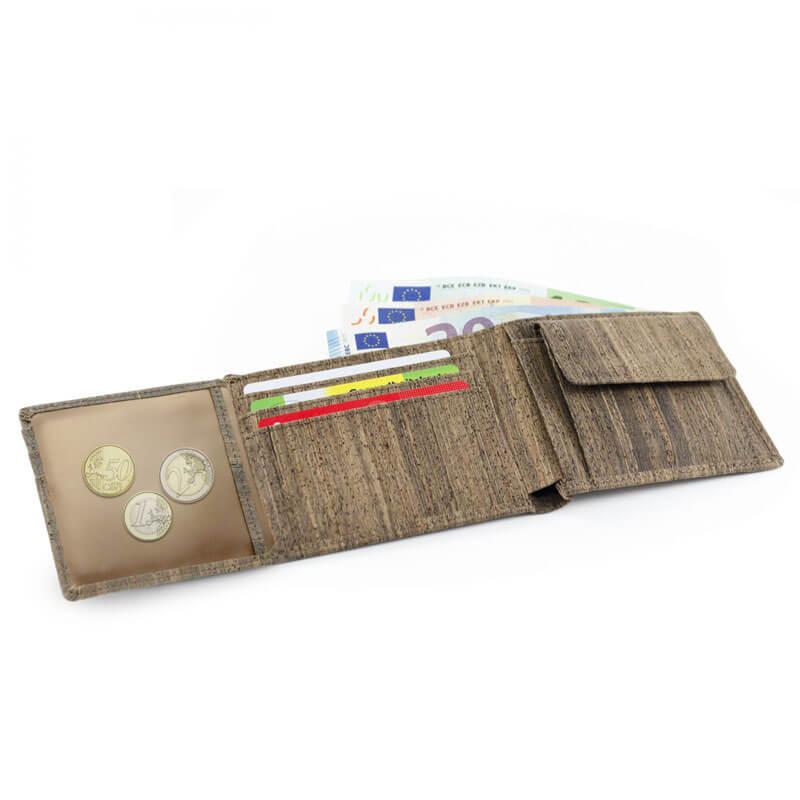 Acherla Trifold-Portemonnaie, Farbe natur, Optik aufgeklappt