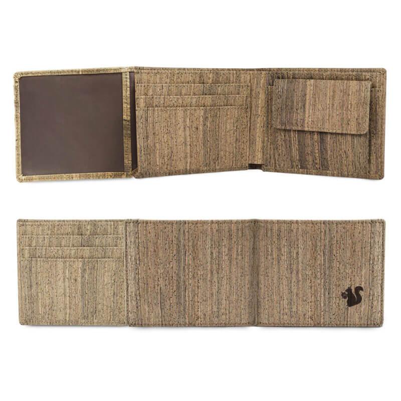 Acherla Trifold-Portemonnaie, Farbe natur, Optik beide Seiten