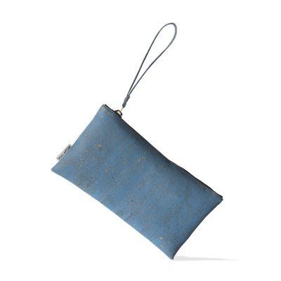 vegane Handtasche blau