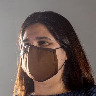 Corkor Maske dunkelbraun von links