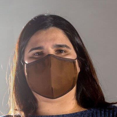 Corkor Maske dunkelbraun von vorne