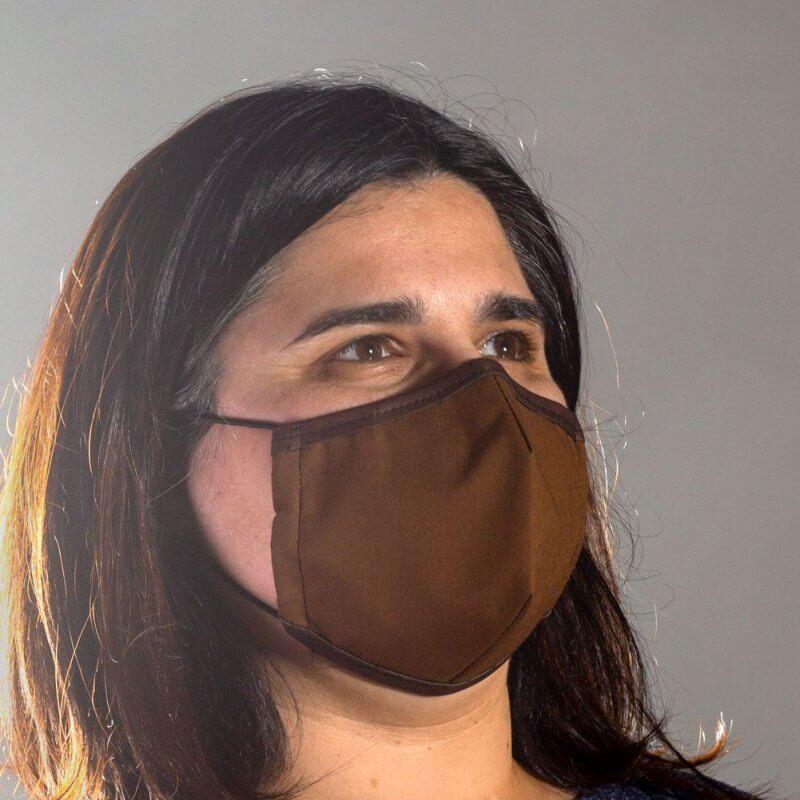 Corkor Maske dunkelbraun von rechts
