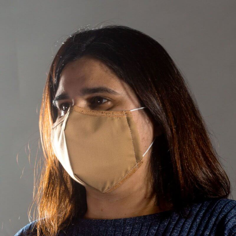 Corkor Maske hellbraun von links