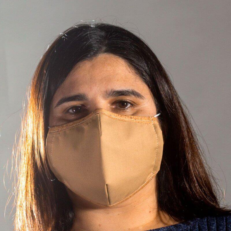 Corkor Maske hellbraun, Optik mitte