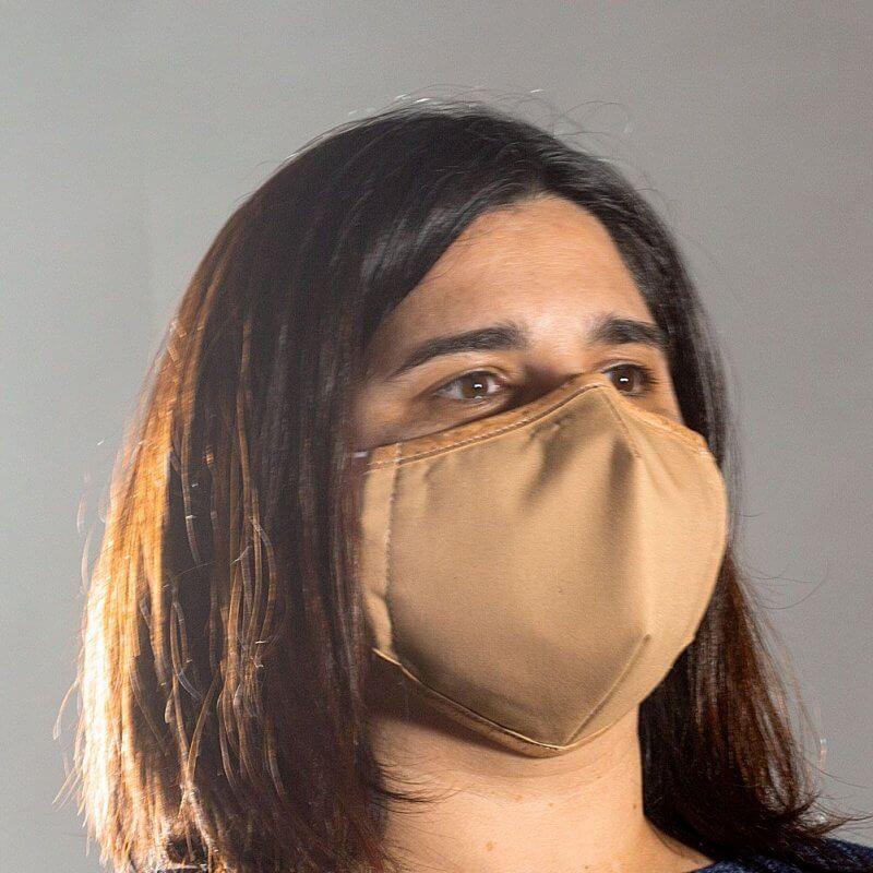Corkor Maske hellbraun von rechts
