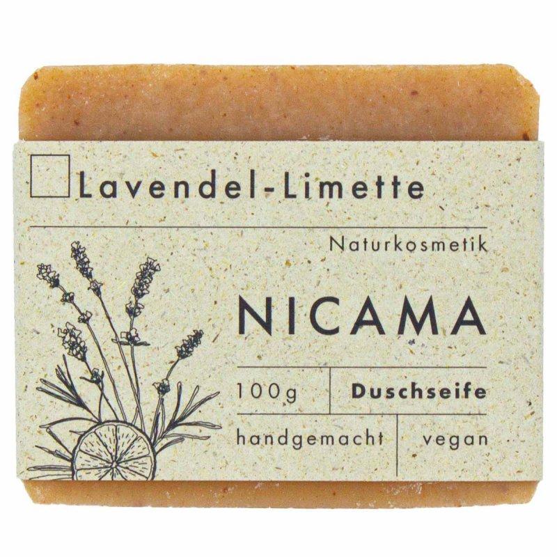 NICAMA nachhaltige Duschseife Lavendel - Limette