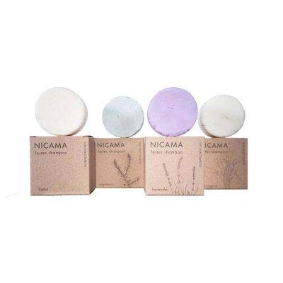 NICAMA festes Shampoo Set vier Teilig