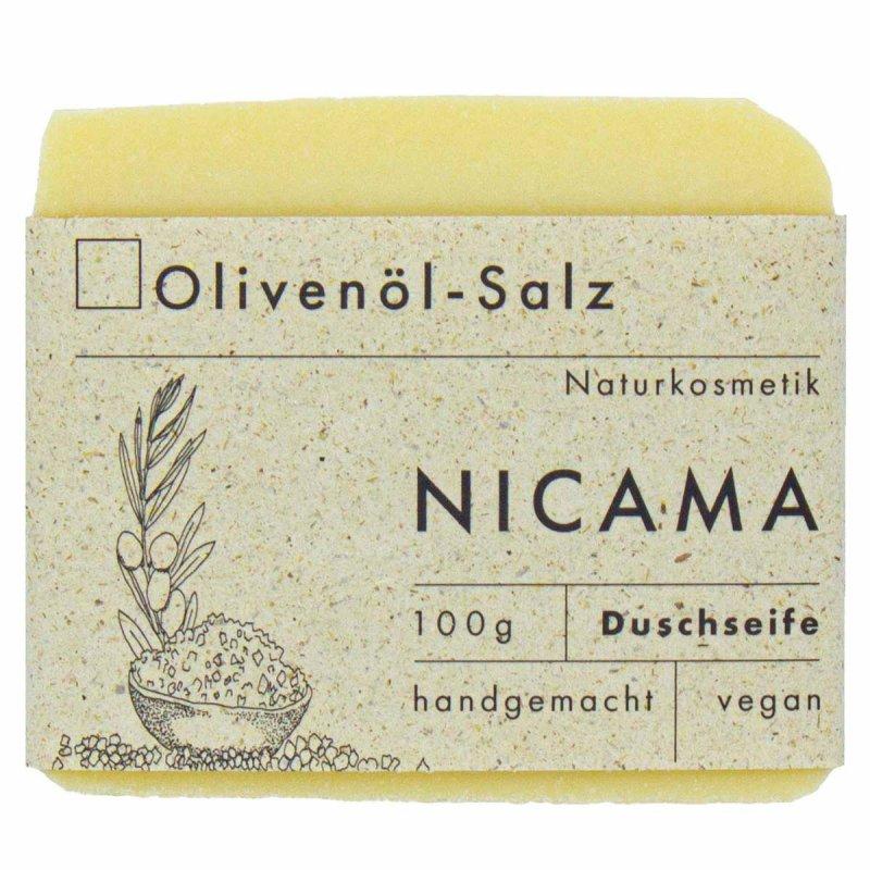 NICAMA vegane Duschseife Olivenöl - Salz