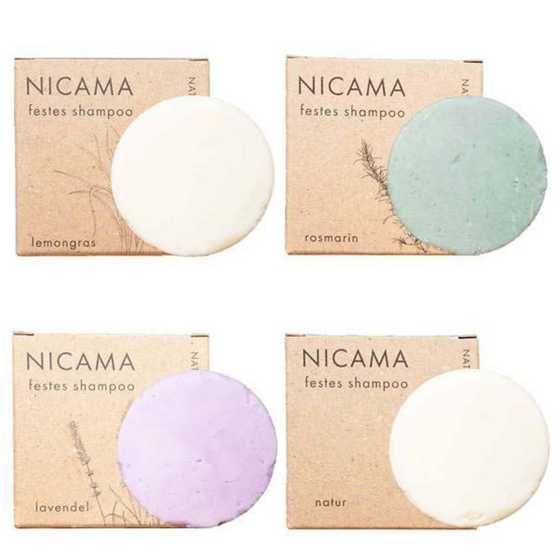 NICAMA nachhaltiges Shampoo Set vier Teilig