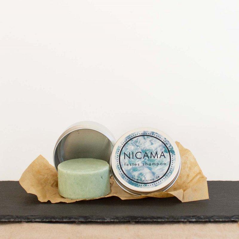 NICAMA Reisedose mit Seife