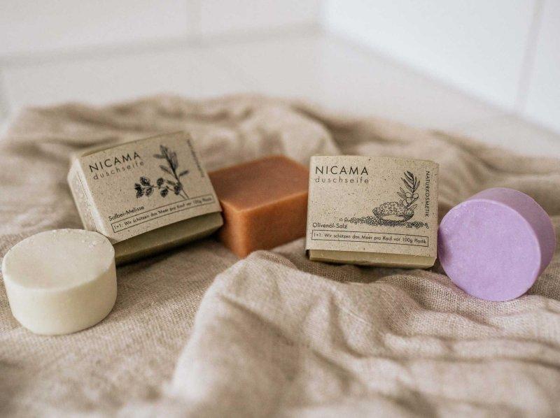 NICAMA festes Shampoo Set Moodbild