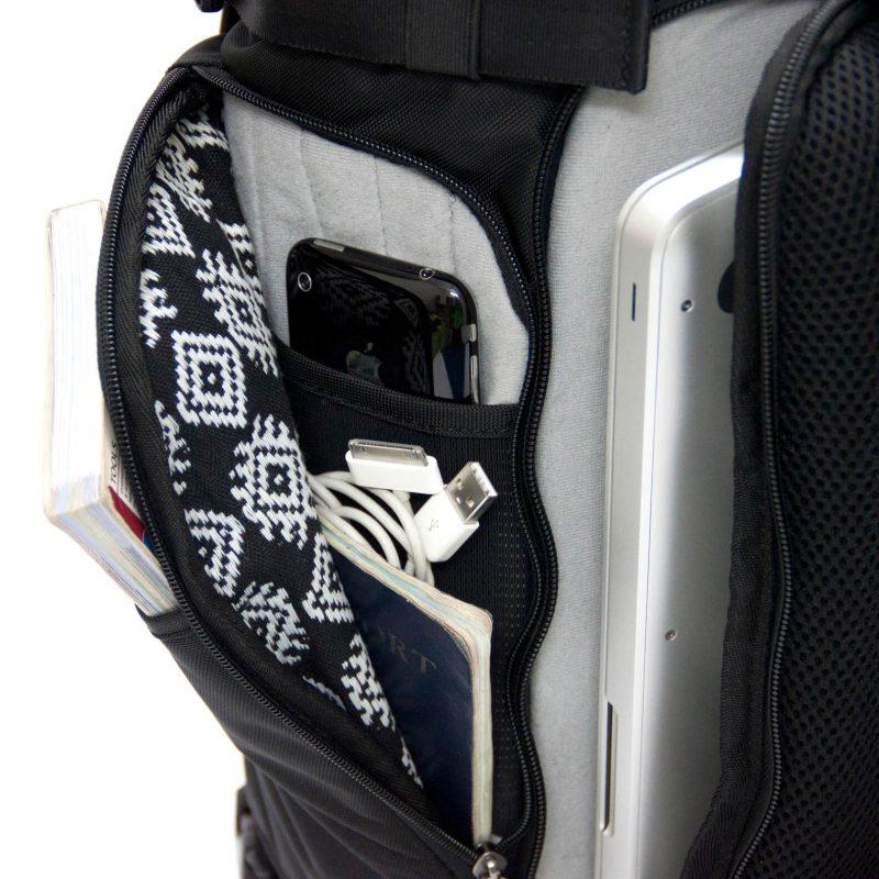 Nachhaltiger Rucksack Seitentasche