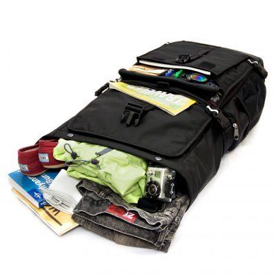 Nachhaltiger Rucksack vollgepackt