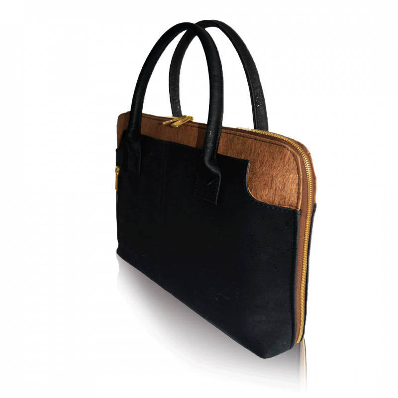 vegane Handtasche schwarz matt