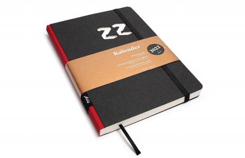 Tyyp Kalender 2022 Design in schwarz rot