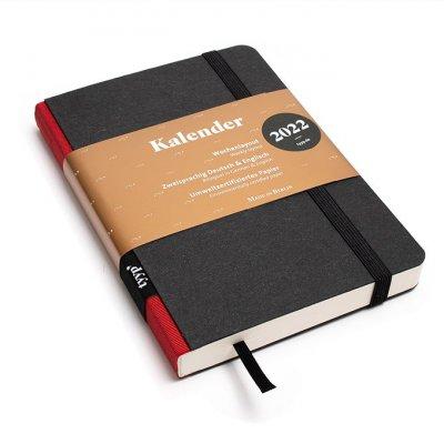 Tyyp Taschenkalender in schwarz rot