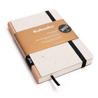 Tyyp Taschenkalender in weiß braun