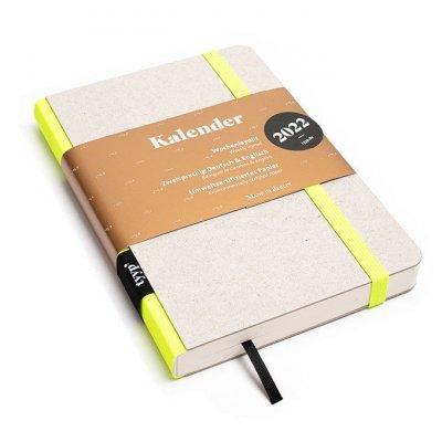 Tyyp Taschenkalender in weiß gelb