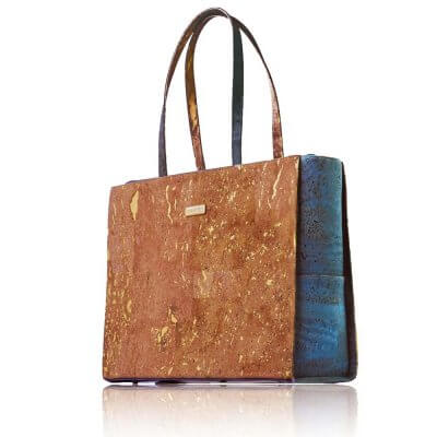 Bag Affair Business Handtasche aus Kork grün natur