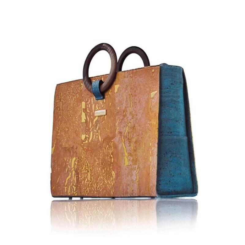 Bag Affair- business Handtasche aus Kork Farbe grün natur
