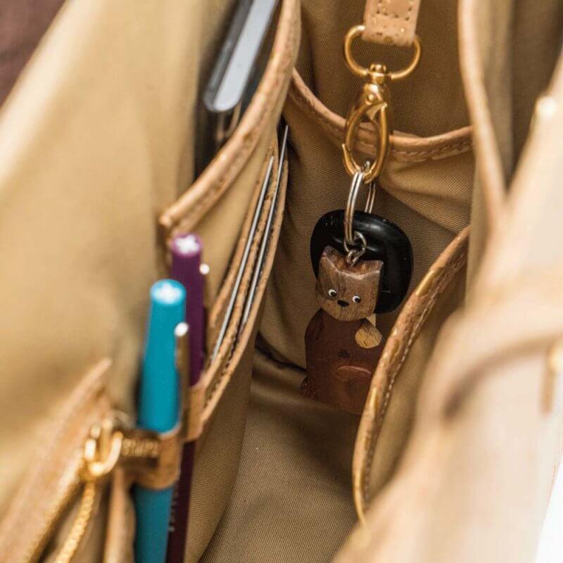 Bag Affair Business Handtasche aus Kork Innenraum