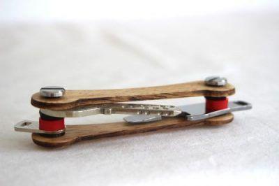 Keycabin nachhaltige Schluesselanhänger Farbe Eiche Model C