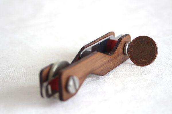 Keycabin - Schlüsseltui Farbe Nussbaum extra