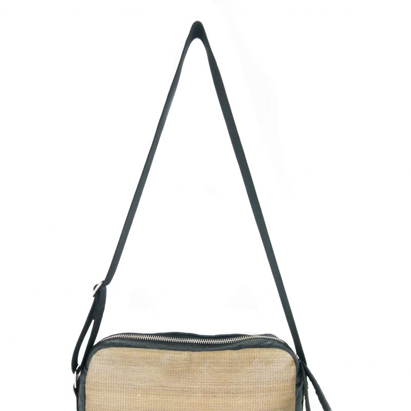 vegane Handtasche schwarz grau