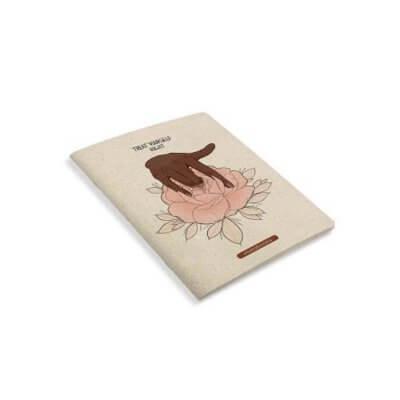Matabooks Notizbuch treat yourself right seitlich
