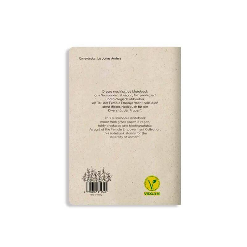 Matabooks Notizbuch hinterseite