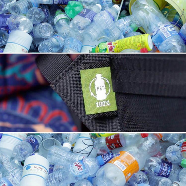 Nachhaltiger Rucksack PET Symbol