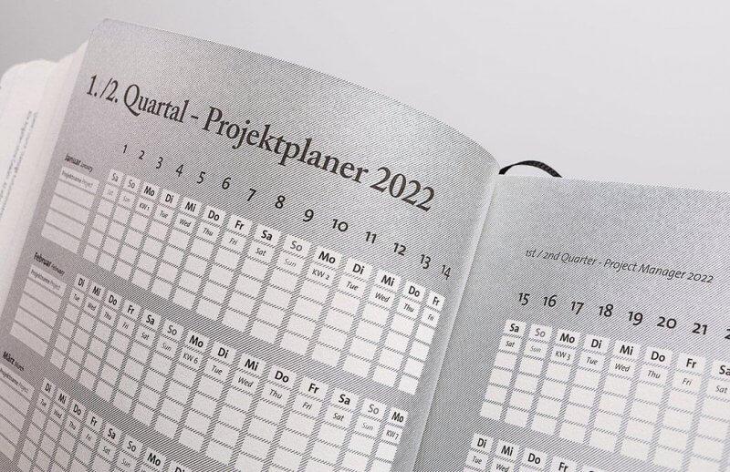 Tyyp Kalender 2022 Quartalsübersicht