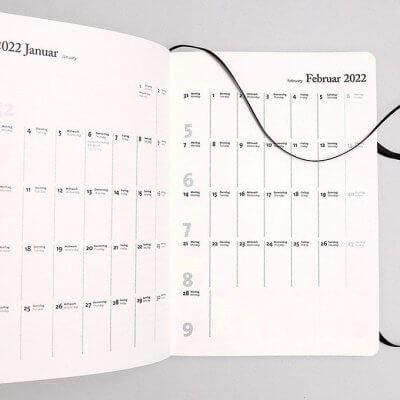 Tyyp Kalender 2022 Monatsübersicht